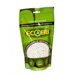 Bolas biodegradables para Airsoft 6mm - 20 gramos - blancas