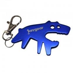 Llavero abridor perro azul