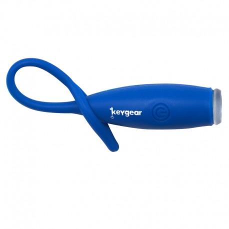 Mini linterna lde silicona azul
